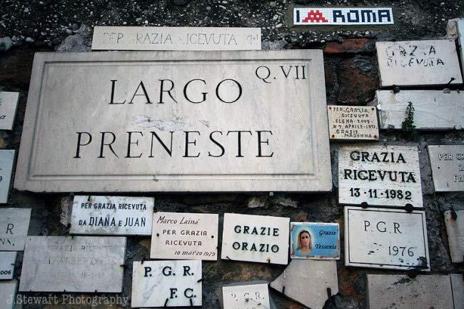 Il caso delle Madonne ex voto a Roma - Largo Preneste