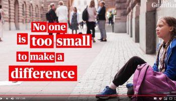 Greta Thumberg Nessuno é troppo piccolo per fare la differenza